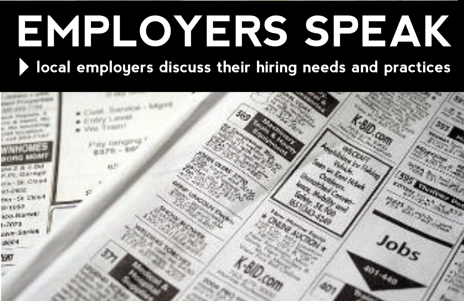 Employers Speak Poster