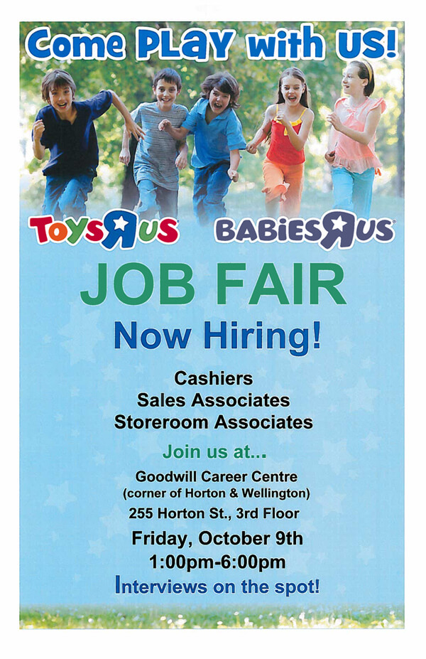 Toys R Us Job Fair Poster