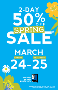 Spring Sale on March 24-25