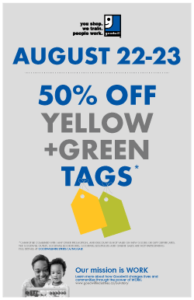 August Tag Sale Poster